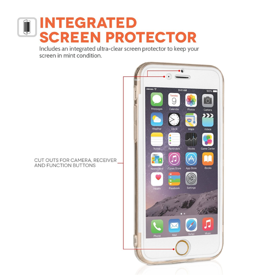 Yousave Accessories Apple iPhone 6 and 6s  TPU Silicone Wallet - Clear