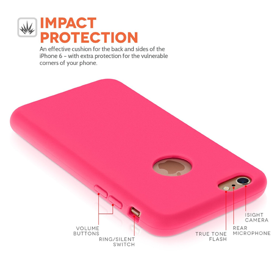 Yousave Accessories Apple iPhone 6 and 6s TPU Silicone Wallet - Pink