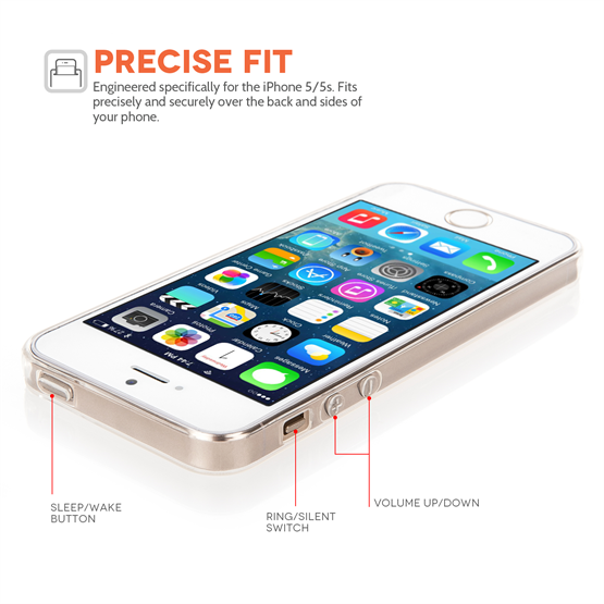 Yousave Accessories iPhone SE Ultra Thin Clear Gel Case
