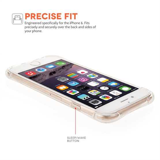 Yousave Accessories Apple iPhone 6 and 6s Air Cushion Gel Case-Clear