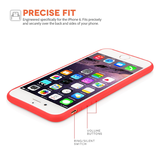 Yousave Accessories iPhone 6 and 6s  Ultra Thin Matt Solid Red
