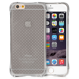 Yousave Accessories Apple iPhone 6 and 6s Air Cushion Gel Case-Smoke Black