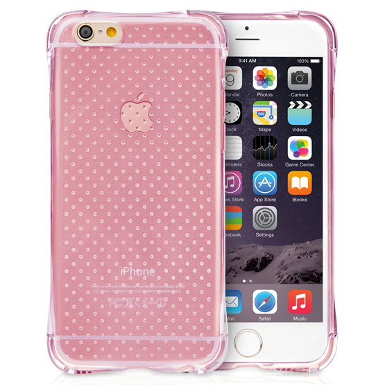 Yousave Accessories Apple iPhone 6 and 6s Air Cushion Gel Case-Pink