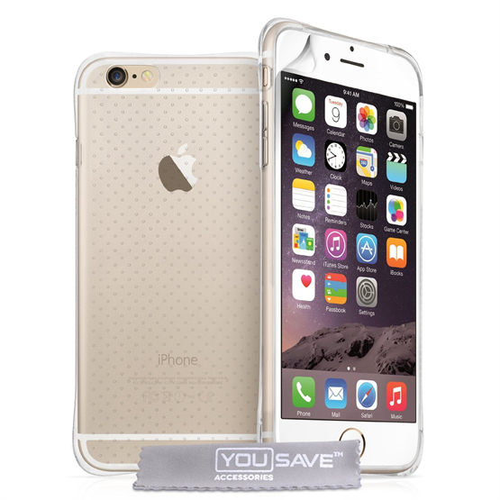 Yousave Accessories Apple iPhone 6 and 6s  Plus Air Cushion Gel Case-Clear