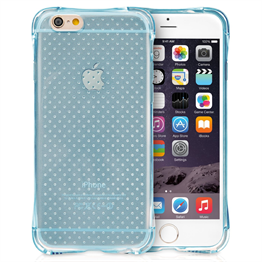 Yousave Accessories Apple iPhone 6 and 6s  Plus Air Cushion Gel Case-Blue