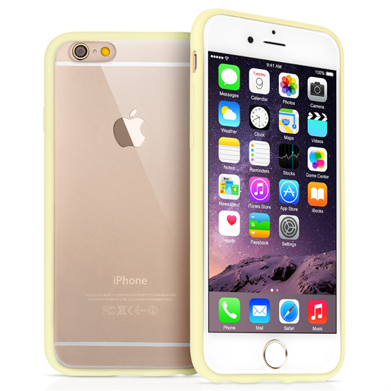 Yousave Accessories Apple iPhone 6 and 6s  Tpu Hard Back Case Gold