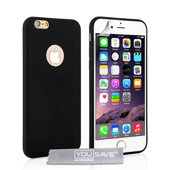 Yousave Accessories  iPhone 6 Plus Ultra Thin Gel - Solid Black Case