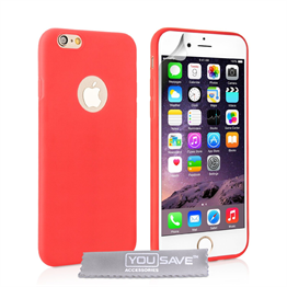 Yousave Accessories  iPhone 6 Plus Ultra Thin Gel - Solid Red Case