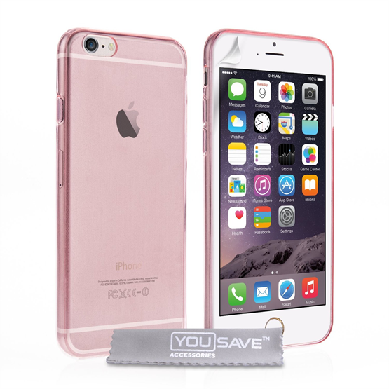 Yousave Accessories  iPhone 6 Plus and 6s Plus Ultra Thin Gel - Pink Case