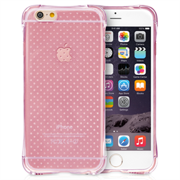 Yousave Accessories iPhone 6 and 6s Air Cushion Gel Case - Clear/Pink