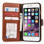 Yousave Accessories iPhone 6 and 6s Real Leather ID Wallet -Brown Case