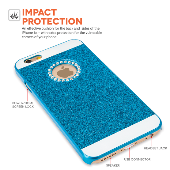 Yousave Accessories iPhone 6 and 6s Flash Diamond Case -  Blue