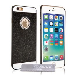 Yousave Accessories iPhone 6 and 6s Flash Diamond Case - Black