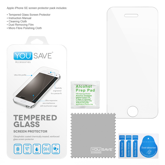 YouSave Accessories iPhone SE Glass Screen Protector