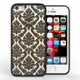 Yousave Accessories iPhone 5 and SE TPU Hard Case - Damask Black