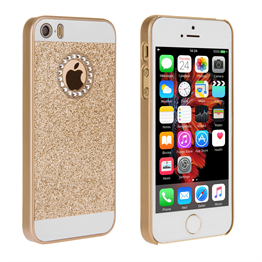 Yousave Accessories iPhone SE Flash Diamond Case - Gold