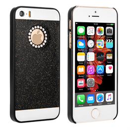 Yousave Accessories iPhone SE Flash Diamond Case - Black