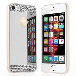 Yousave Accessories iPhone SE Mirror Diamond Case - Silver