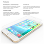 Yousave Accessories iPhone 6 / 6s Glass Screen Protector - Twin Pack