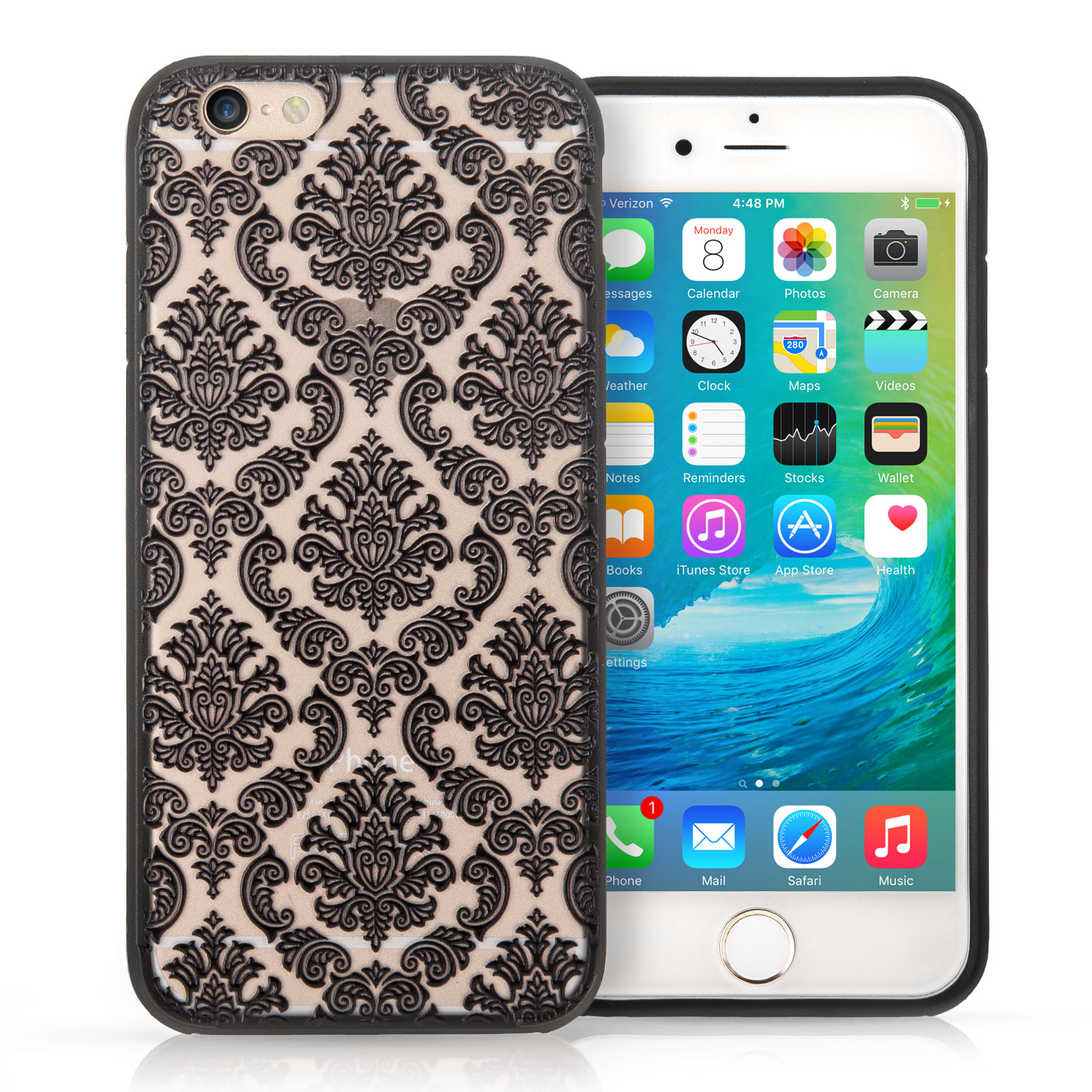 damask office accessories. YouSave Accessories IPhone 7 Plus TPU Hard Case - Damask Black Office O