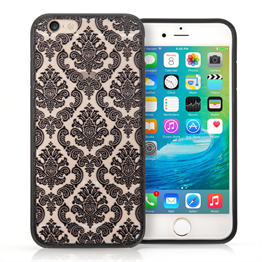 YouSave Accessories iPhone 7 Plus TPU Hard Case - Damask Black