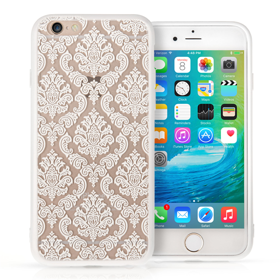 YouSave Accessories iPhone 7 Plus TPU Hard Case - Damask White
