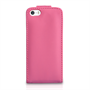 Yousave Accessories Apple iPhone 5/5S Leather-Effect Flip Case - Hot Pink