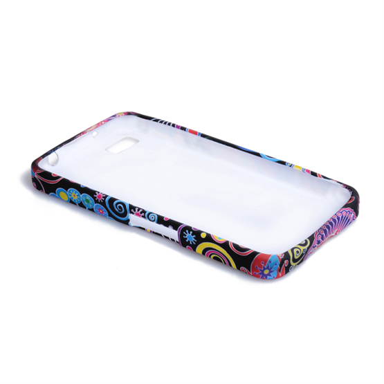 Yousave Accessories Blackberry Z10 Jellyfish Multicoloured Case