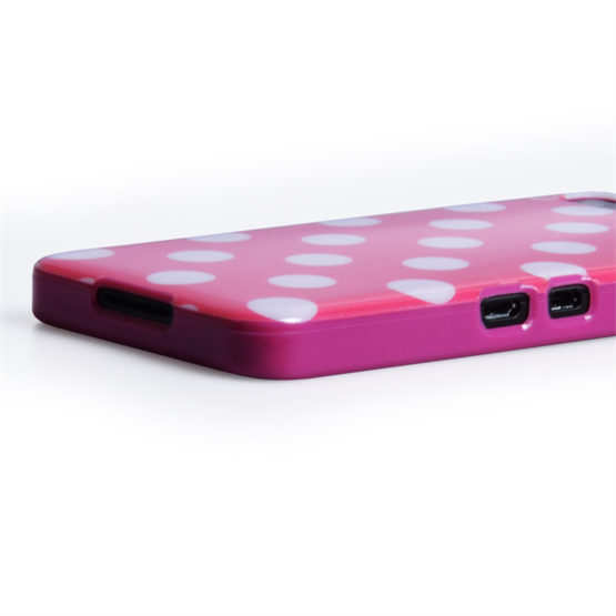 Yousave Accessories Blackberry Z10 Polka Dot Hot Pink Case
