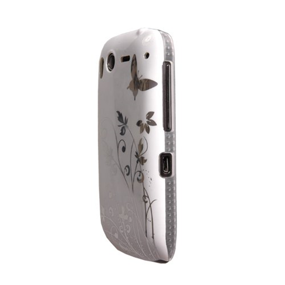 Yousave Accessories HTC Desire S White/Silver Butterfly IMD Case
