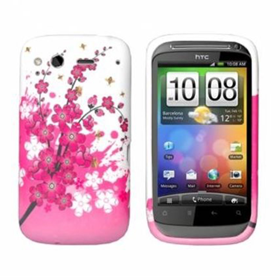 Yousave Accessories HTC Wildfire S Floral Bee Silicone Gel Case