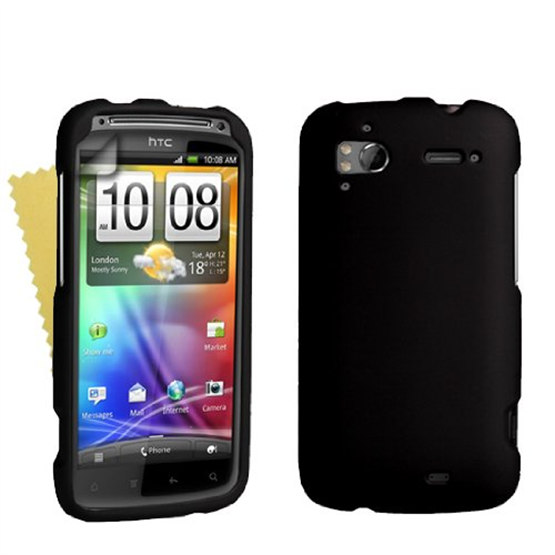 Yousave Accessories HTC Sensation Black Hybrid Hard Case