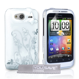 Yousave Accessories HTC Wildfire S IMD White Case
