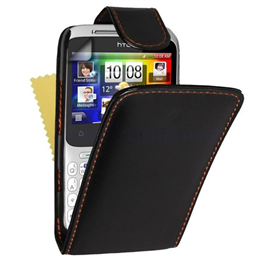 Yousave Accessories HTC Cha Cha PU Flip Black Case