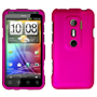 Yousave Accessories HTC Evo 3D Hot Pink Hybrid Hard Case