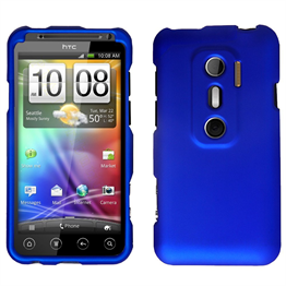 Yousave Accessories HTC Evo 3D Blue Hybrid Hard Case