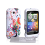 Yousave Accessories HTC Wildfire S Jellyfish Multicoloured Case