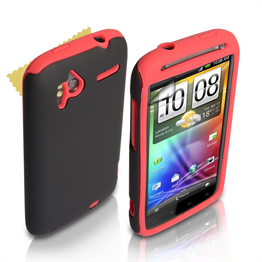 Yousave Accessories HTC Sensation Dual Combo Case - Red/Black