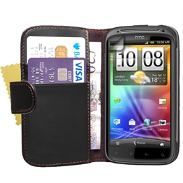 Yousave Accessories HTC Sensation Flip Pu Black Case