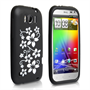 Yousave Accessories HTC Sensation Xl Black Floral Silicone Case