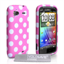 Yousave Accessories HTC Sensation Baby Pink Polka Dot Case