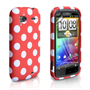 Yousave Accessories For HTC Sensation Red Polka Dot Gel Case Cover Charger Pen