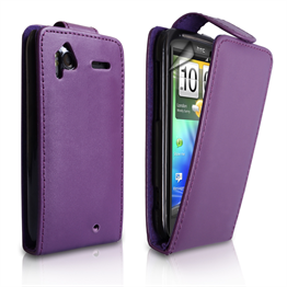 Yousave Accessories HTC Sensation Purple PU Leather Flip Case