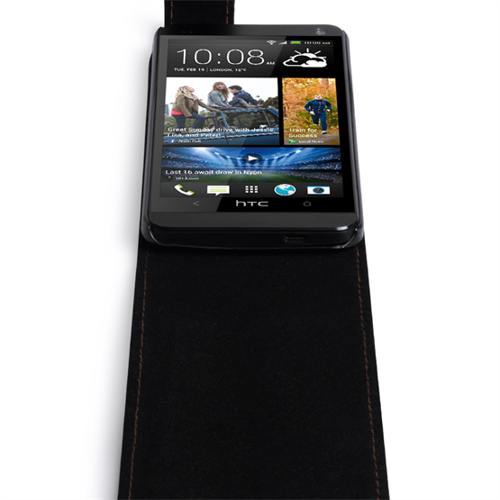 Yousave Accessories HTC One S Leather Effect Flip Case - Black