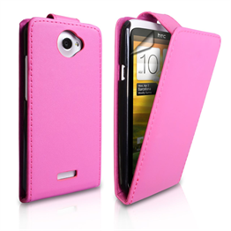 Yousave Accessories HTC One X PU Flip Hot Pink Case
