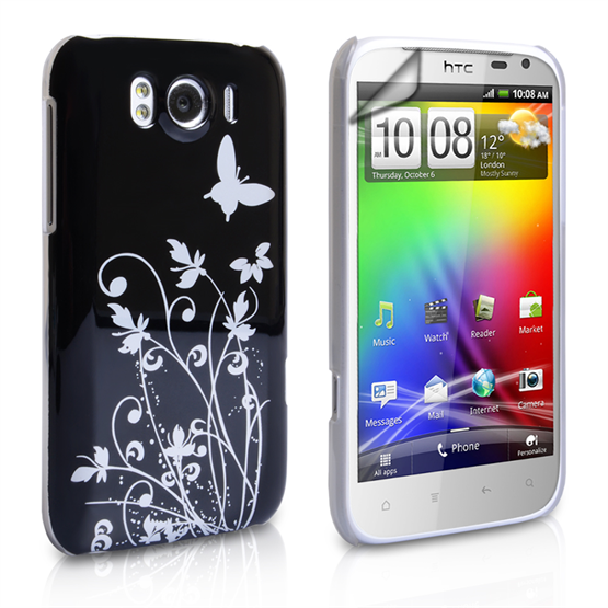 Yousave Accessories HTC Sensation Xl IMD Black Case