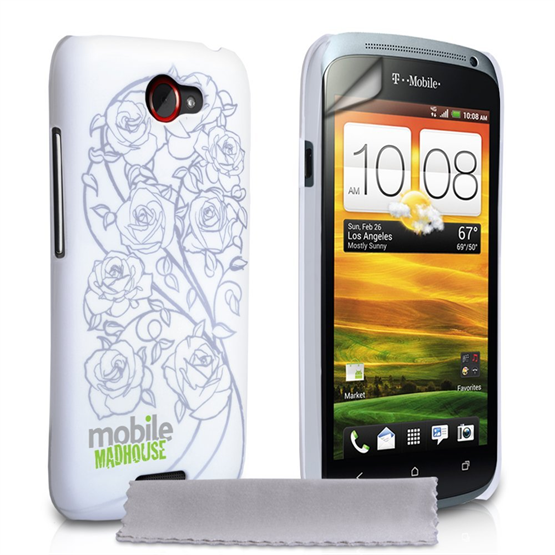Mobile Madhouse HTC One S White Rose Hard Case