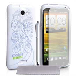 Mobile Madhouse HTC One X White Rose IMD Case