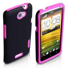 Yousave Accessories HTC One X Combo Hot Pink Case