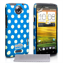 Mobile Madhouse HTC One X Blue Polka Dot Case